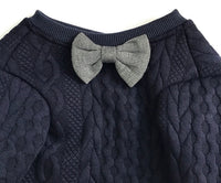 Fancy French Bulldog Sweater with Bow Tie