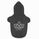 Metal Inspired Skulls & Roses Dog Sweater Hoodie