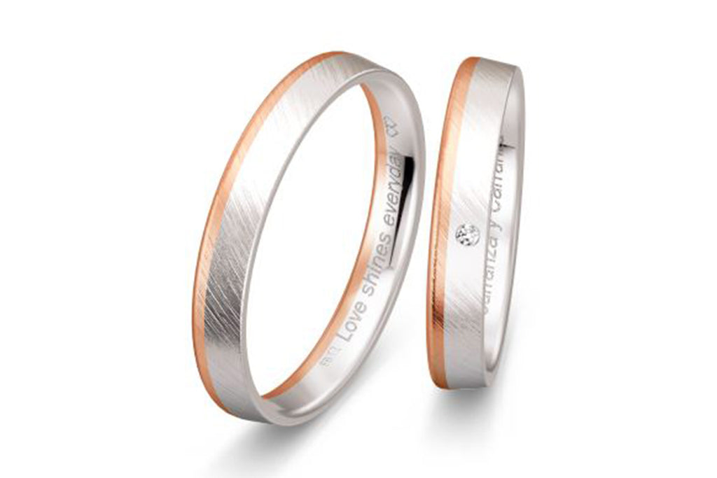 "PAR DE ARGOLLAS DE MATRIMONIO ""BASIC LIGHT"" 14K (A56590-56600)"