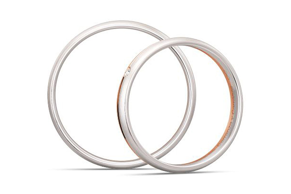 "PAR DE ARGOLLAS DE MATRIMONIO ""BASIC LIGHT"" 14K (A56490-56500)"