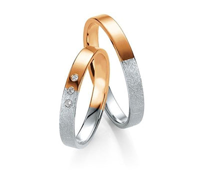 "PAR DE ARGOLLAS DE MATRIMONIO ""BASIC LIGHT"" 14K (A56470-56480)"