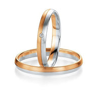 "PAR DE ARGOLLAS DE MATRIMONIO ""BASIC LIGHT"" 14K"