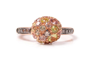 Anillo Bubbles Collection 18K con finos Granates