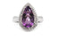 Anillo Breuning Halo Amatista con 0.23ct de diamantes y 18K (M31344)