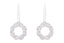 Earrings Circle Lazare Twist Collection con 0.15ct de diamantes y 18K