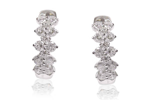Aretes Princess con 1.49ct en diamantes y 18K