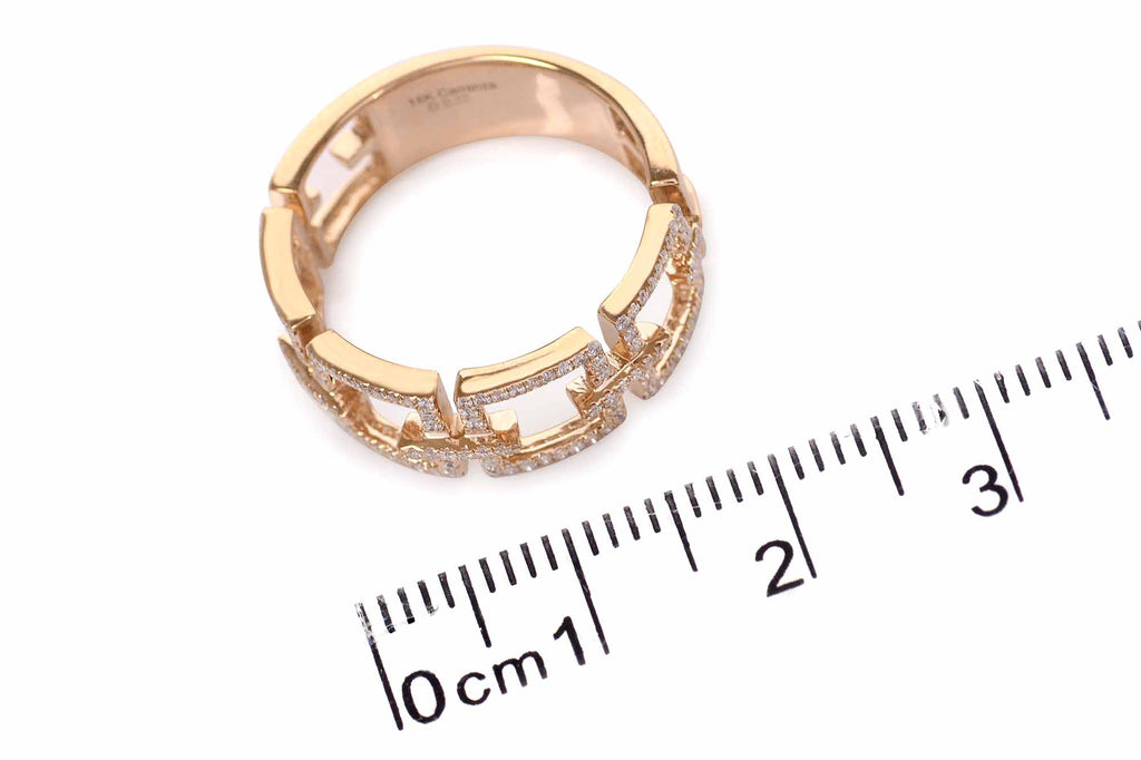 Anillo Square Link 18k / 0.22ct tw