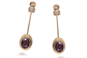 Aretes NANIS (Italy) Dancing Collection 18K con 0.18 ct en diamantes naturales