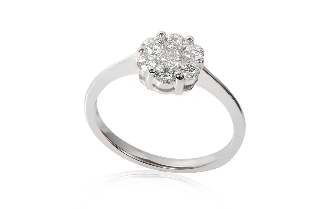 Anillo Cluster 18k / 0.50 ct tw