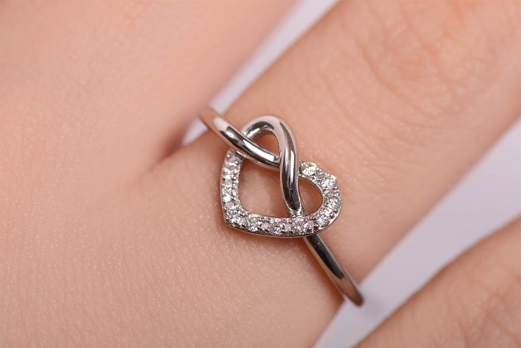 Anillo Heart Not 18K