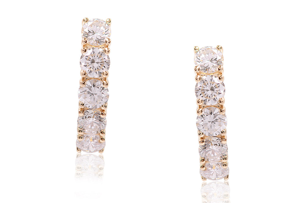 "ARETES ""EVERYDAY"" CON 0.78CTTW DE DIAMANTES Y 18K (M33561)"