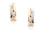 Aretes Double Cross 18k / 0.14 ct