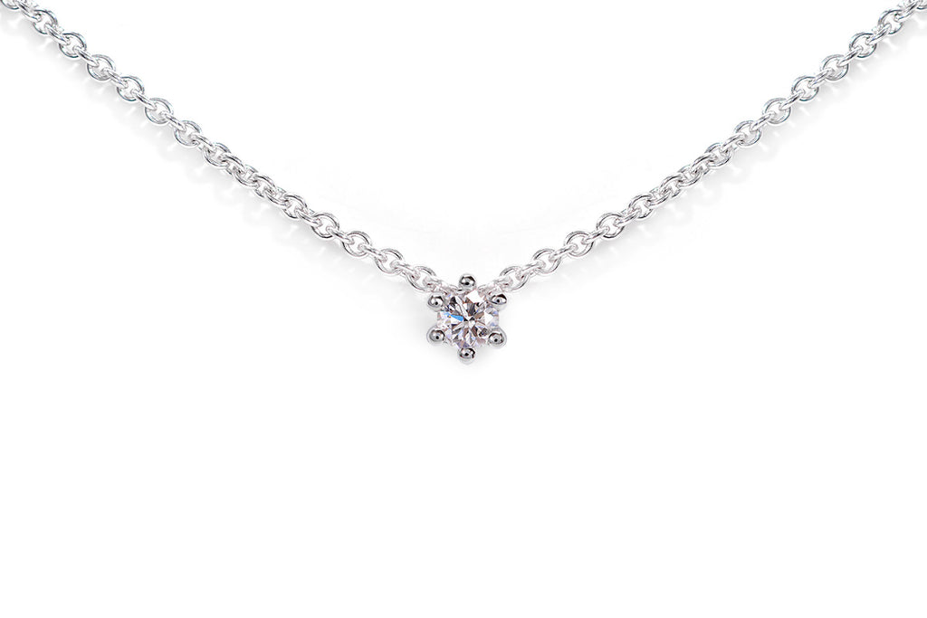 Gargantilla Pure Love 14K. Diamante 0.10 cttw.