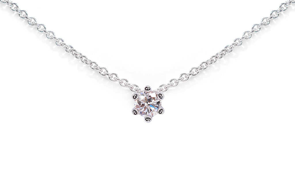 Gargantilla Pure Love 14K. Diamante 0.20 cttw.