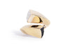 Anillo ''White & Black Diamond Dust'' 18k (M35002)