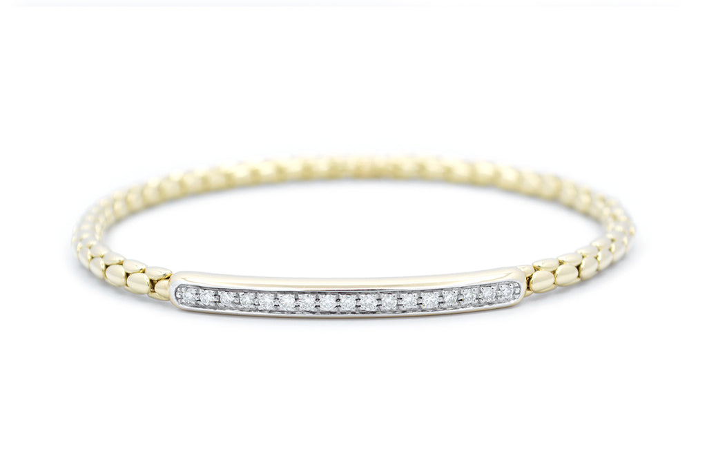 Brazalete ''Stretch Spring'' 18K / 0.37 CT.