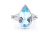 Anillo ''Blue Topaz'' 18k / 0.18ct