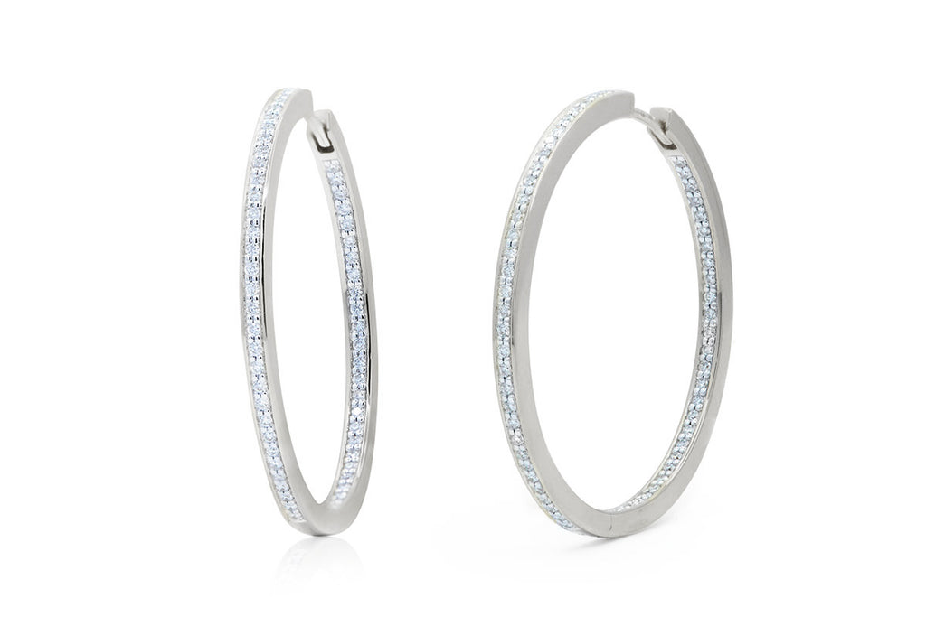 "Arracadas ""Diamonds Hoop"" Collection 18K (M35219)"