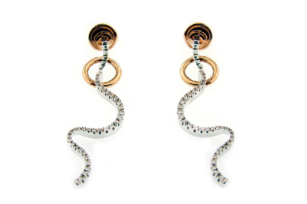 Aretes ''Brezza Collection'' 18k / 0.63 cttw