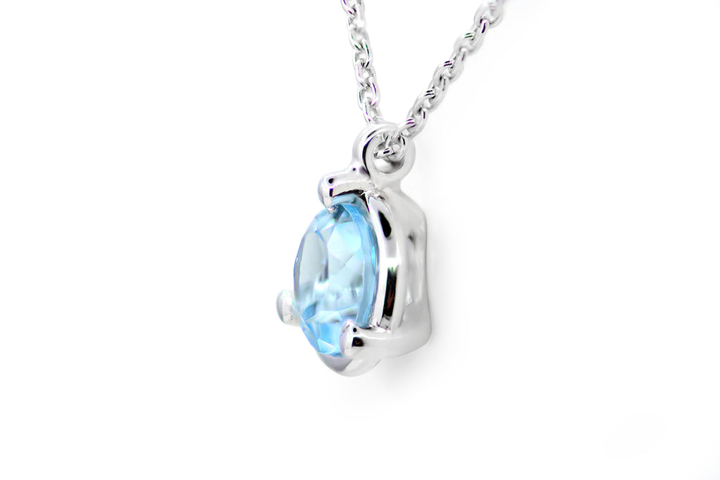 "Gargantilla ""Light of Me"" con Topacio Sky Blue y 18K"