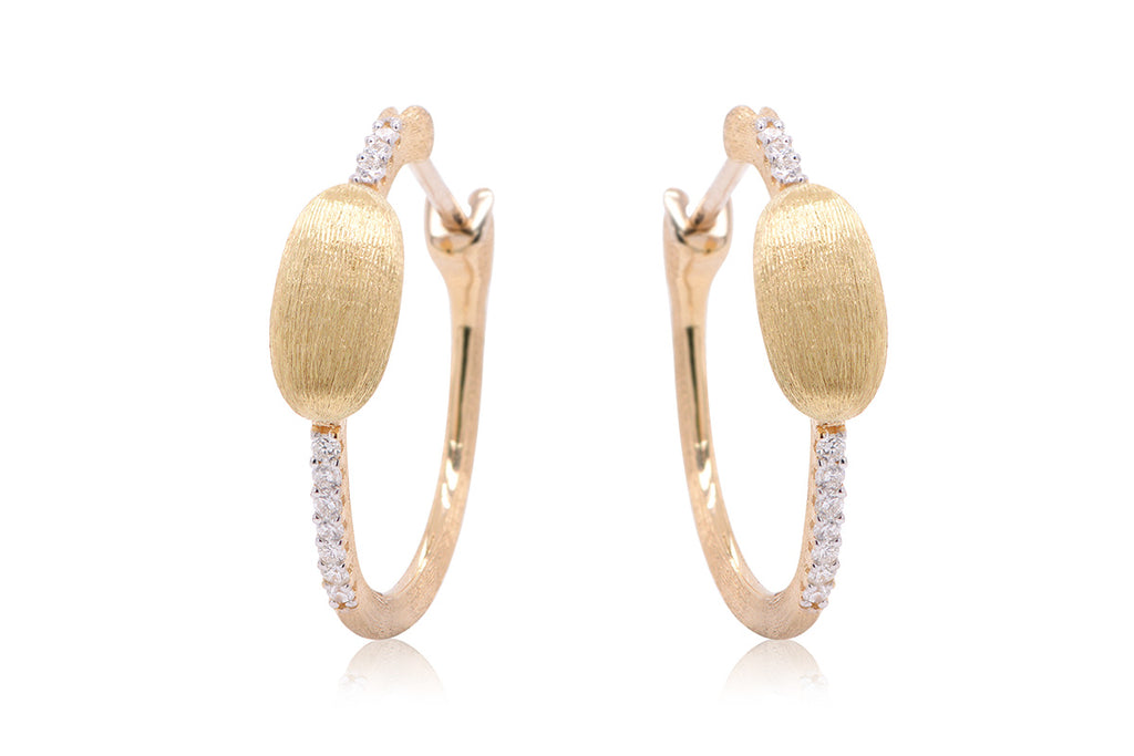 ARETES DANCING RAIN COLLECTION 18K / 0.12CTTW