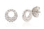 "ARETES ""EVERYDAY"" CON 0.25CTTW DE DIAMANTES Y 18K (M33554)"