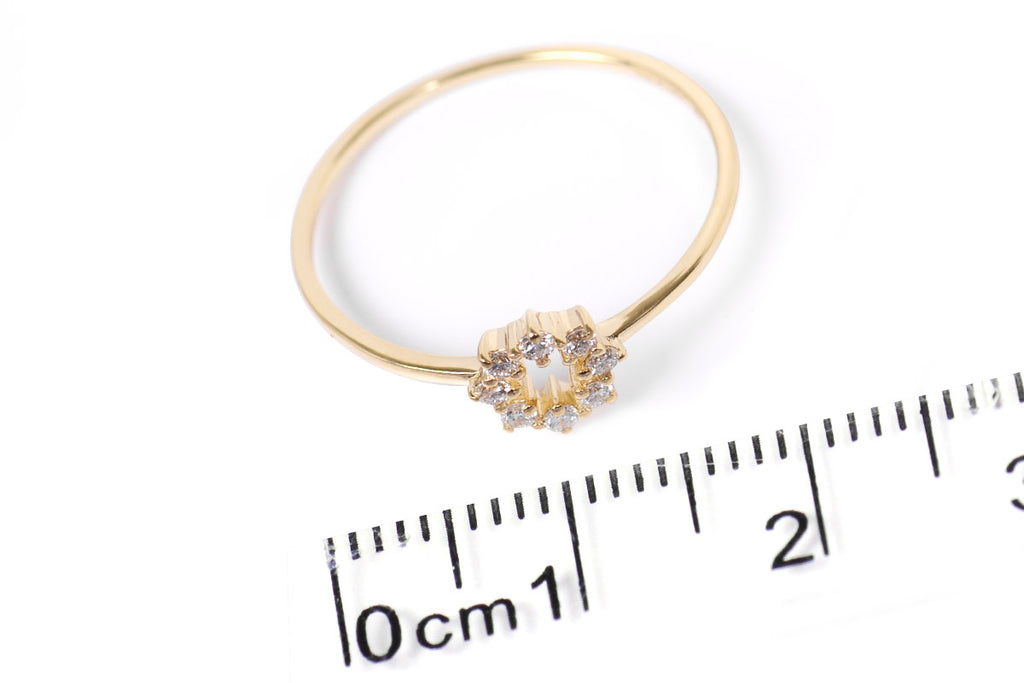 "ANILLO ""PETTITE"" 18K CON 0.11 CT EN DIAMANTES NATURALES VS/G (M33618)"