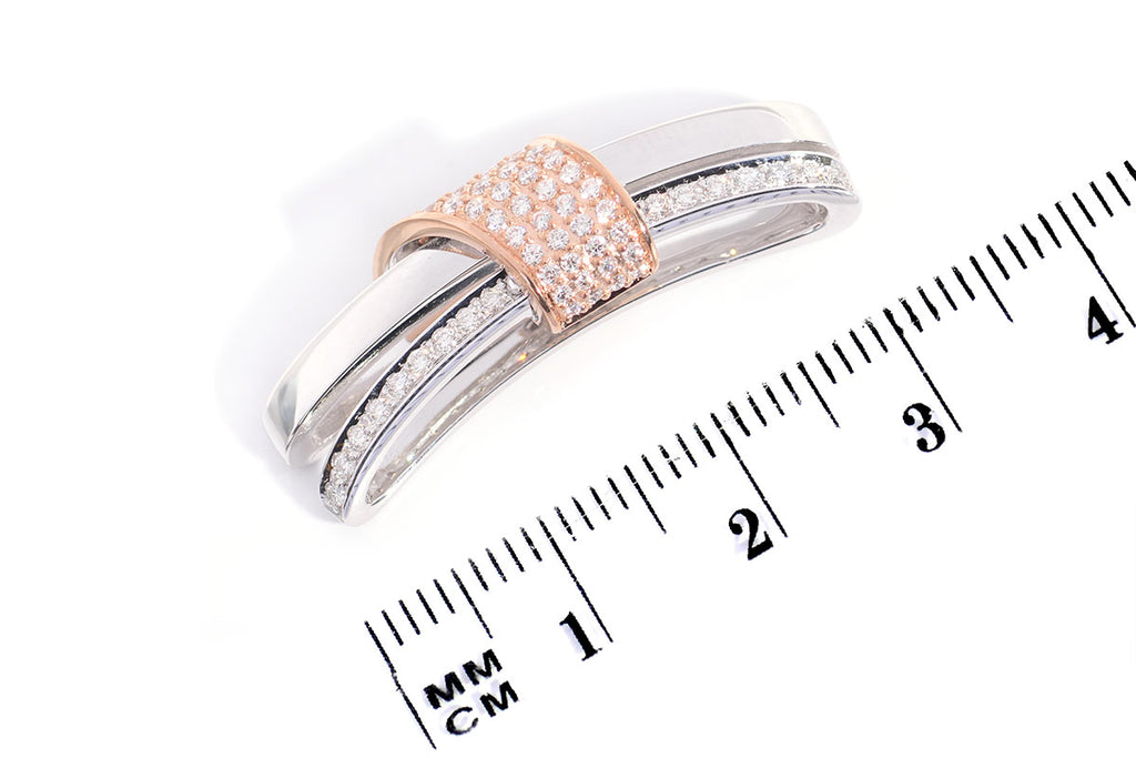 Dije ''Big Hug'' 18k / 0.46ct (m34237)