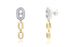 Aretes ''Double Optima'' 18k / 0.63 ct (m35100)