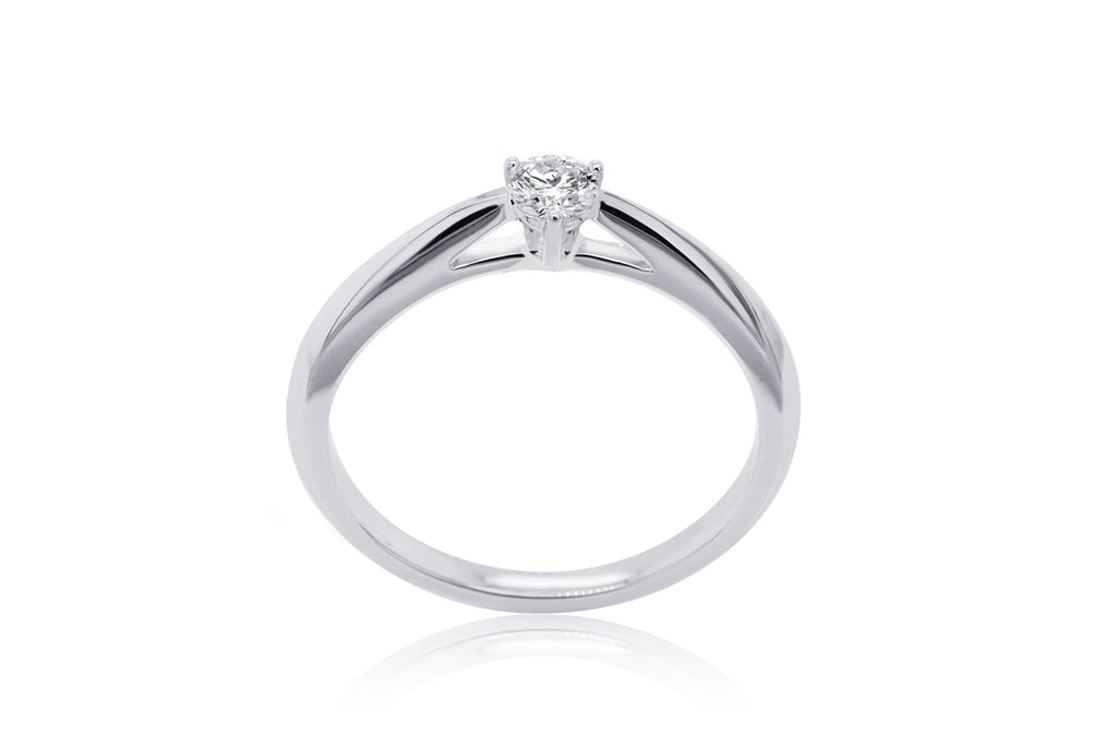 Anillo ''PURE LOVE TRELLI1'' 14KW / 0.05 ct. (41/85768-0 / m35431)