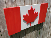 Load image into Gallery viewer, Canadian Wood Flag