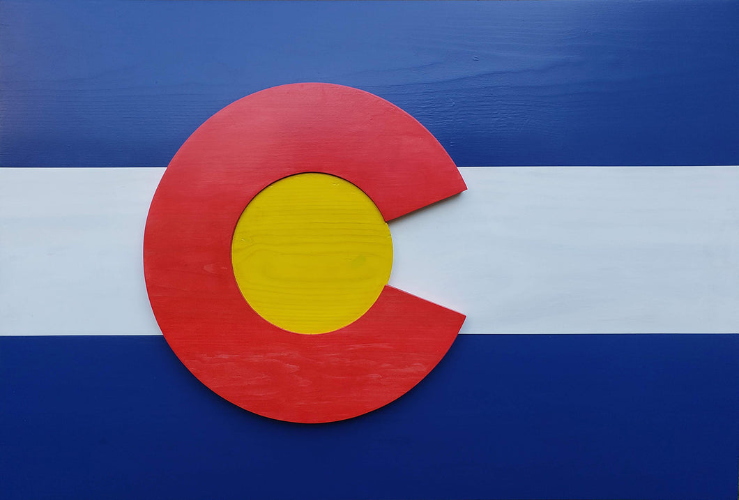 Colorado Wood Flag