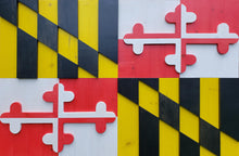 Load image into Gallery viewer, Maryland Wood Flag