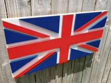 Load image into Gallery viewer, Union Jack Wood Flag