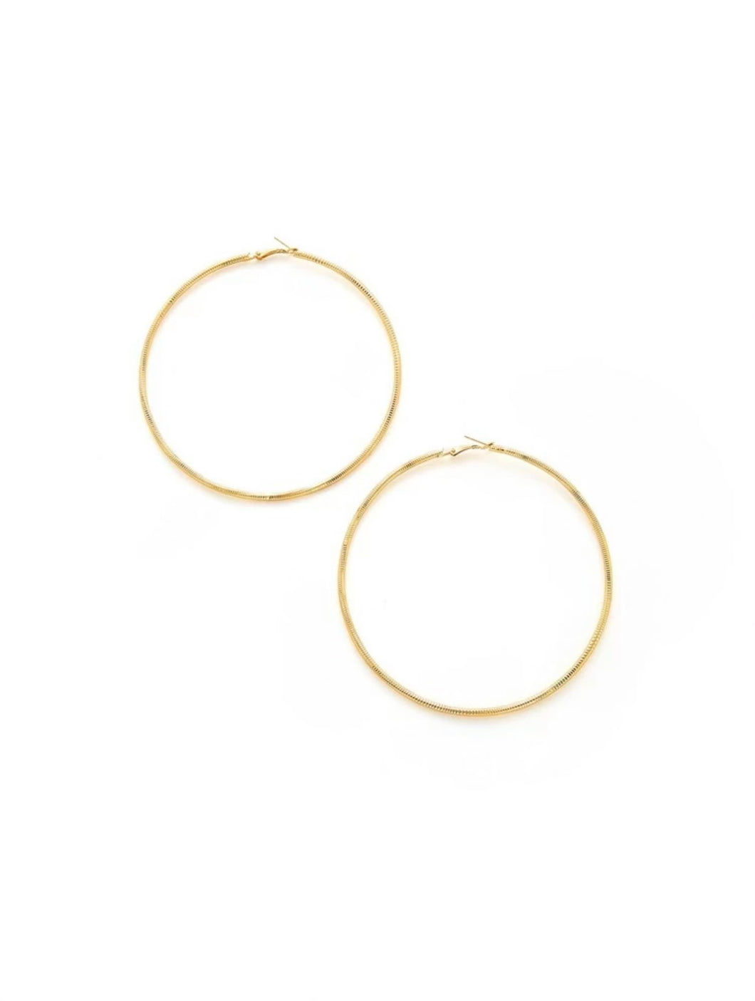 Hoop Earrings (Large Textured)