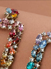 Load image into Gallery viewer, Multicolored Rhinestone Earrings