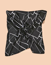 Load image into Gallery viewer, Black and White Geometric Bandana