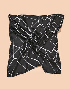 Black and White Geometric Bandana