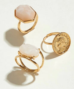 Pearl and Gold Rings