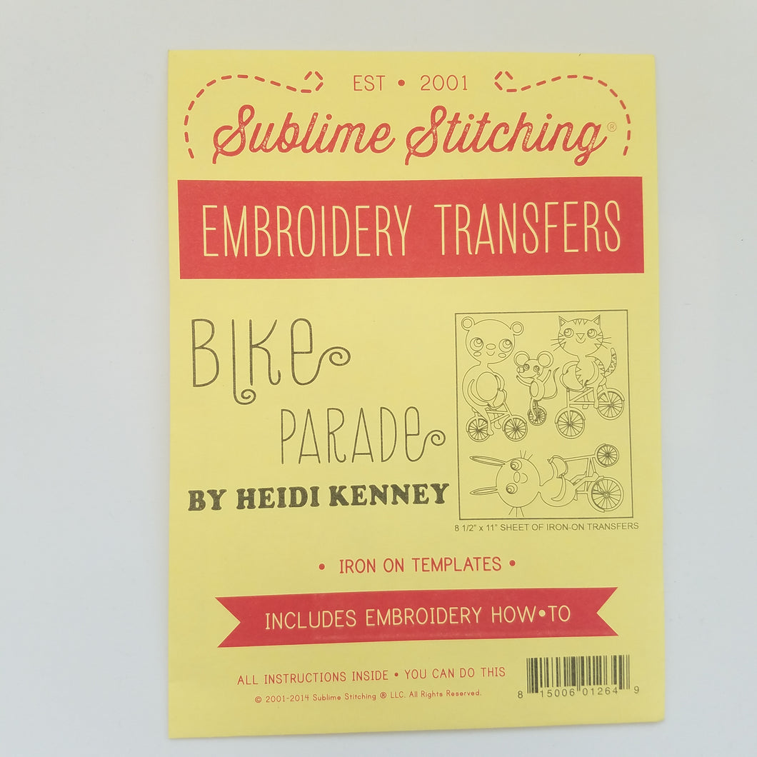 Sublime Stitching Bike Parade Embroidery Transfers