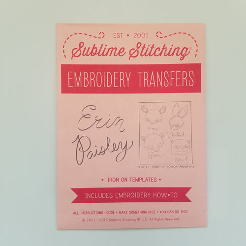 Sublime Stitching Erin Paisley Embroidery Transfers