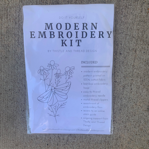 Thistle and Thread Modern Embroidery Kit Butterfly