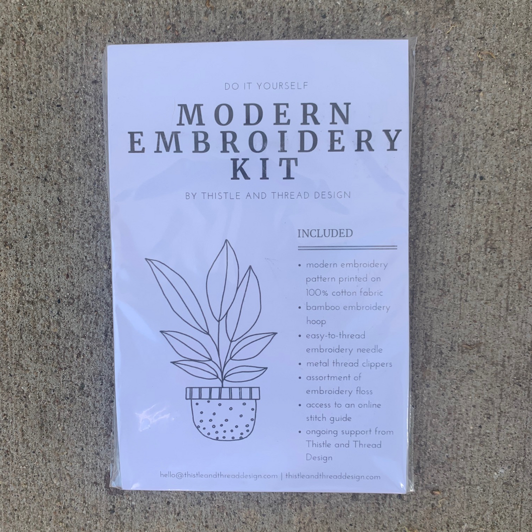 Thistle and Thread Modern Embroidery Kit Plant