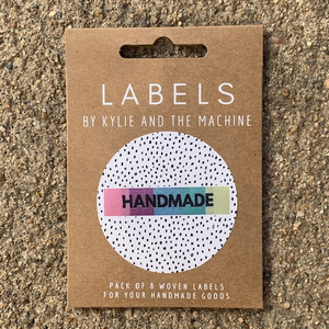 Kylie + The Machine label Handmade