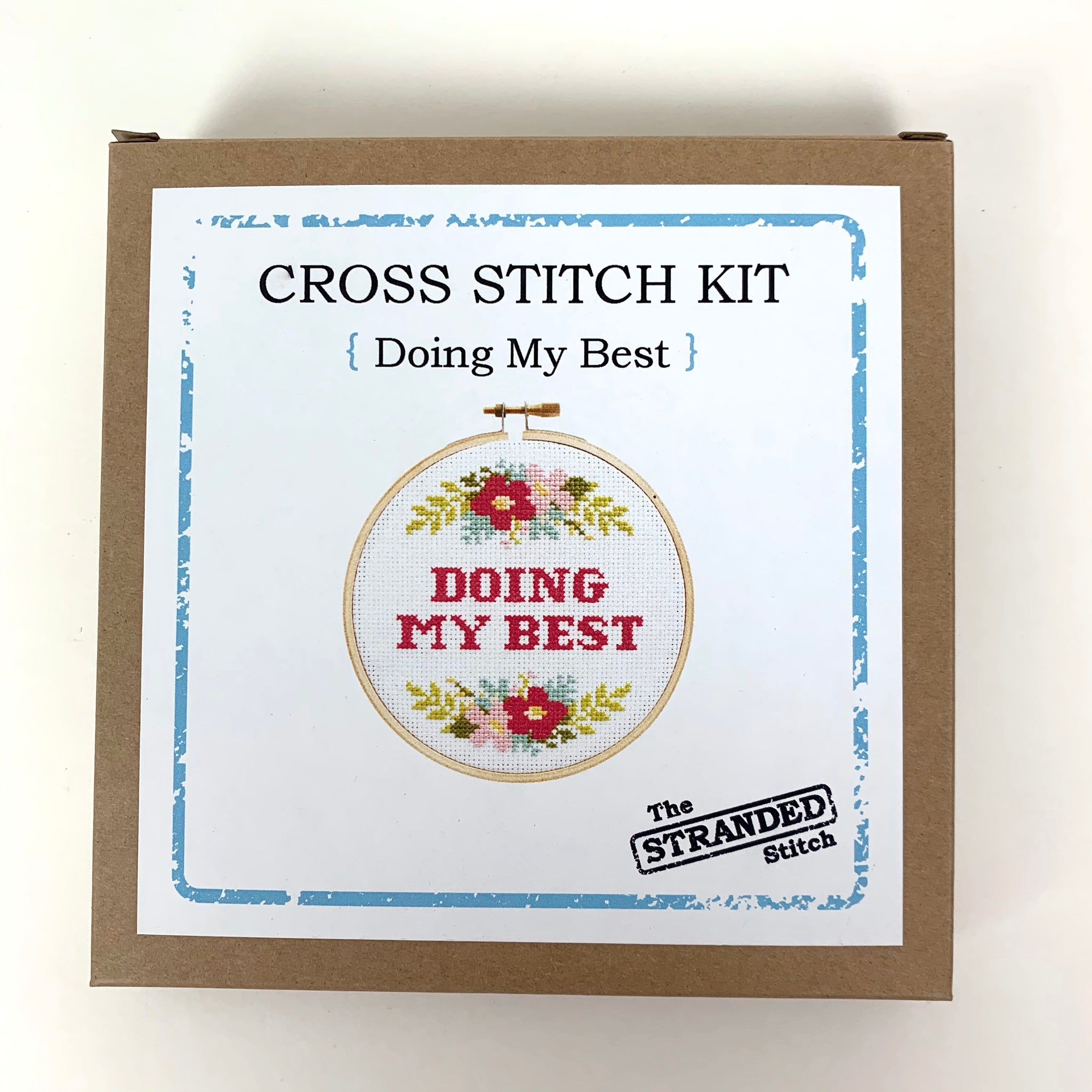 Copy of Stranded Stitch Cross Stitch Kit Doing My Best