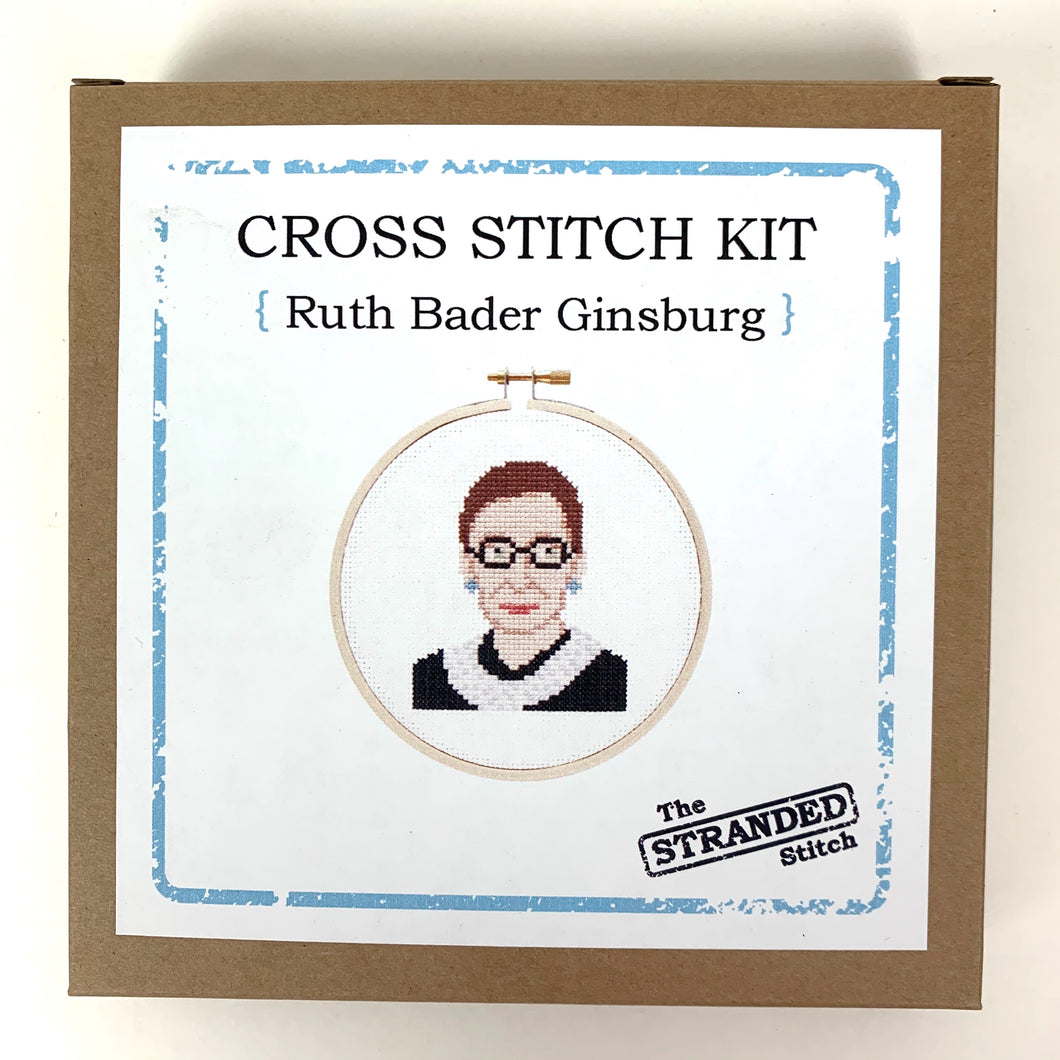 Stranded Stitch Cross Stitch Kit Ruth Bader Ginsburg
