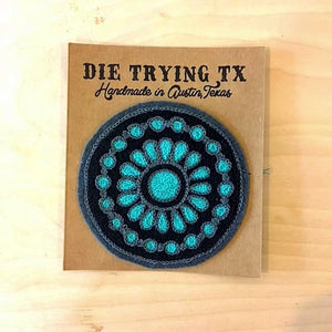 Die Trying TX Turquoise Pendant Patch