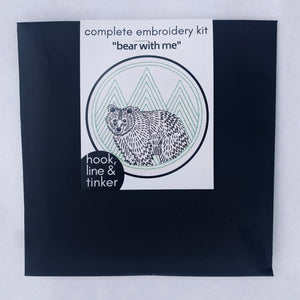 "Hook Line Tinker Embroidery Kit ""Bear with Me"""