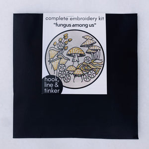 "Hook Line Tinker Embroidery Kit "" Fungus Amoung Us"""