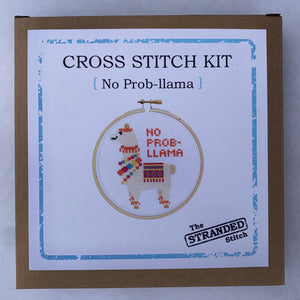 Stranded Stitch Cross Stitch Kit No Prob-llama